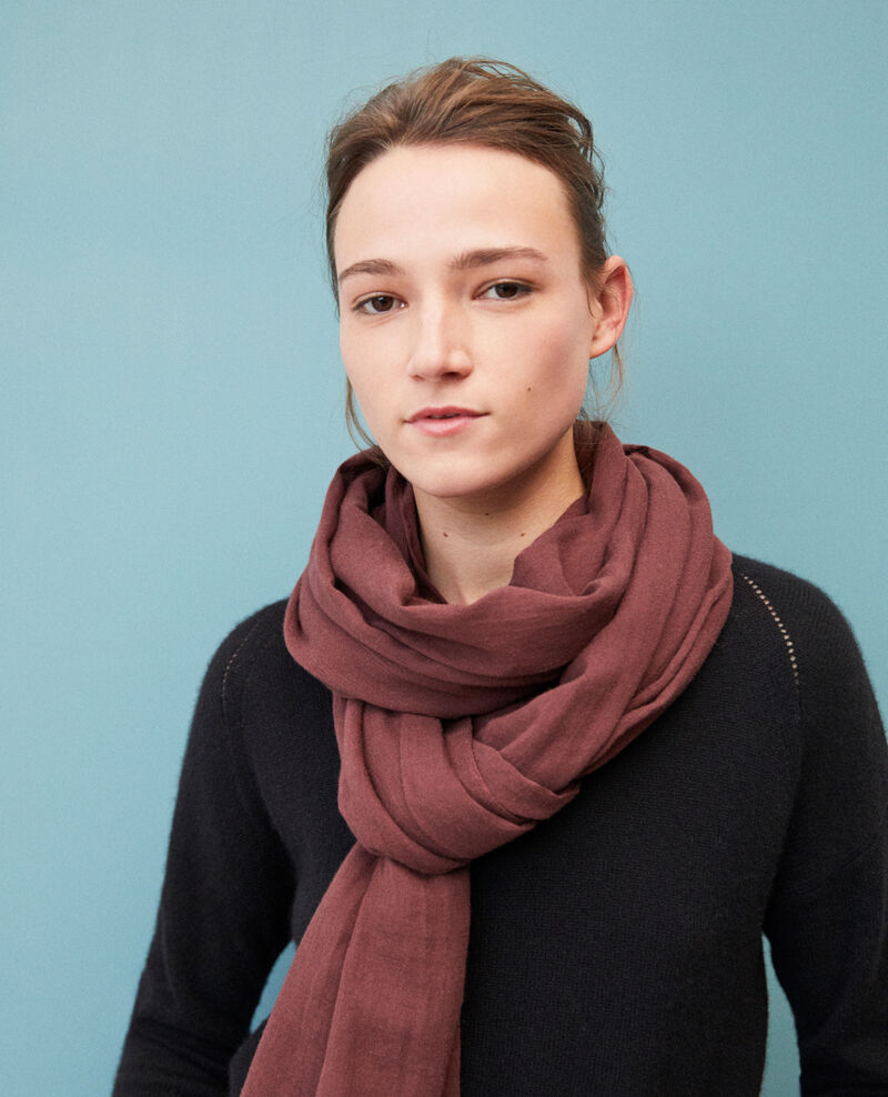 Organic cotton scarf Decadente chocolate Geste