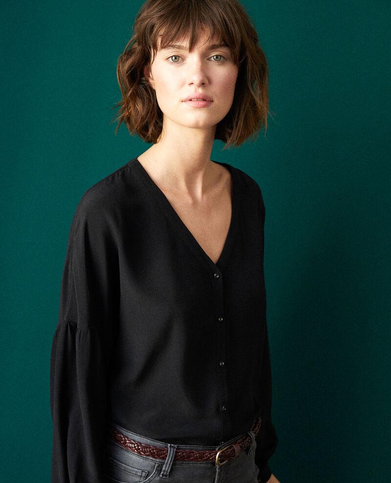 V-neck blouse NOIR