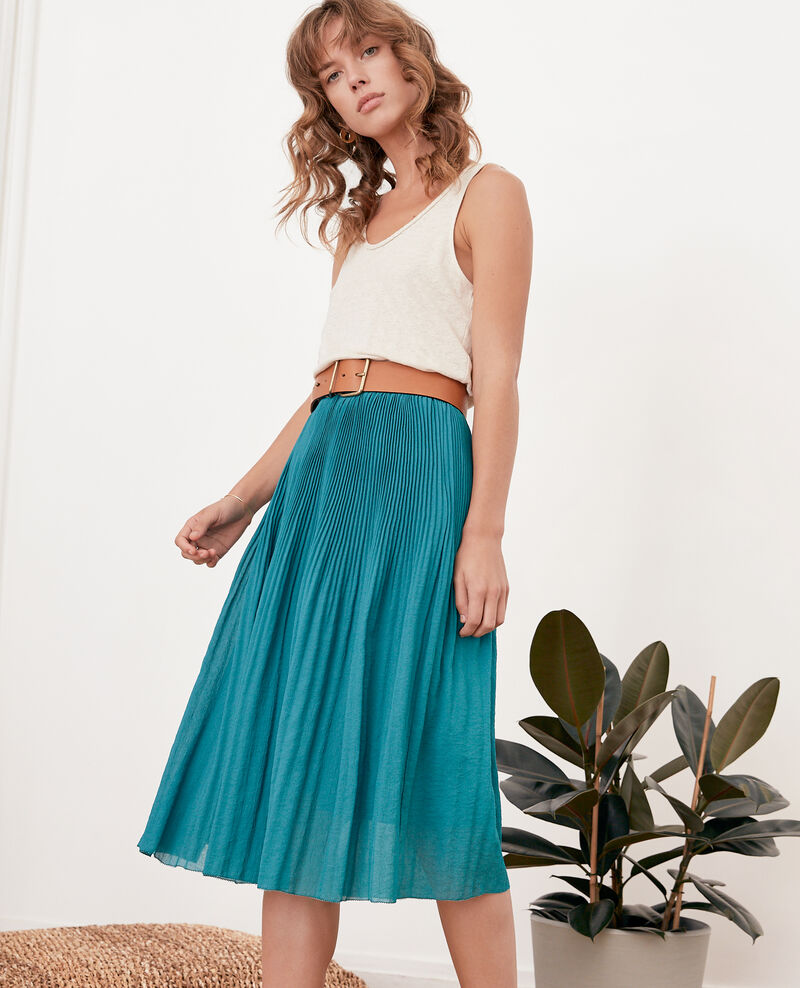 Pleated skirt PACIFIC GREEN