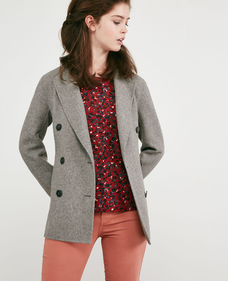 Wool blend jacket Medium heather grey 9darabie