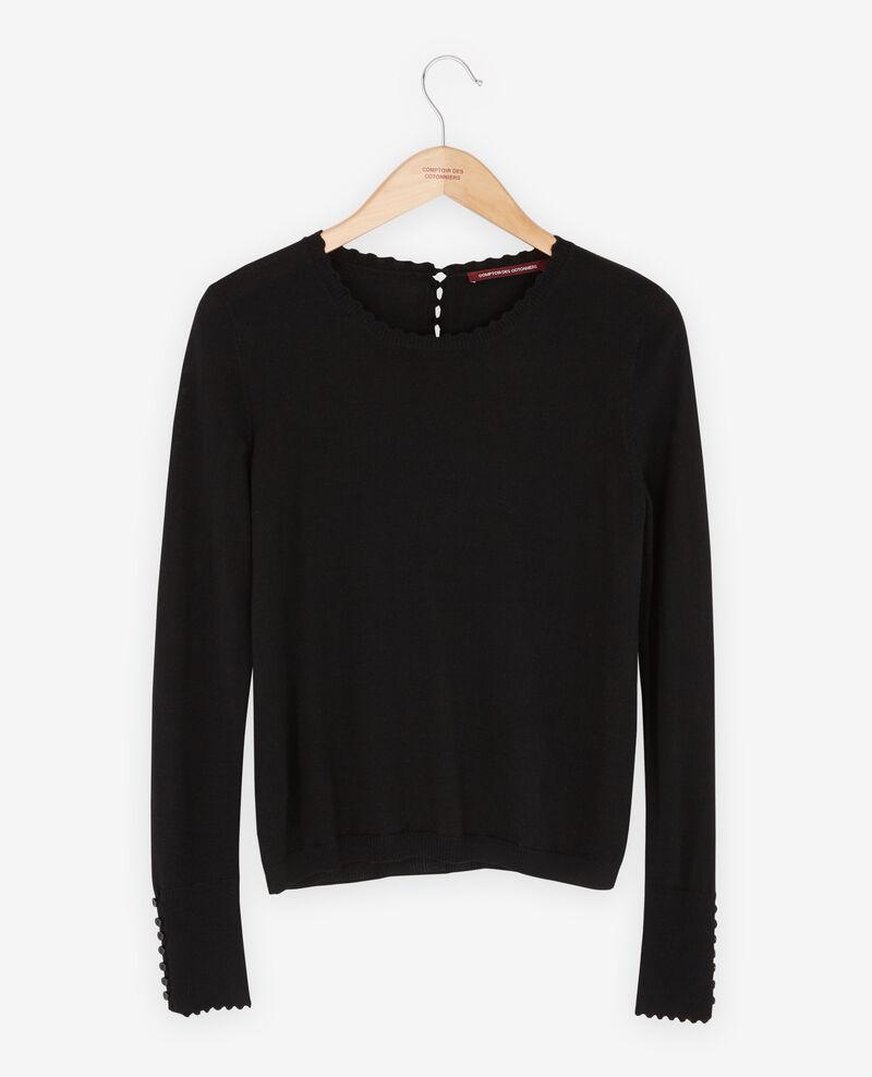 Thin wool jumper Noir Fauvea