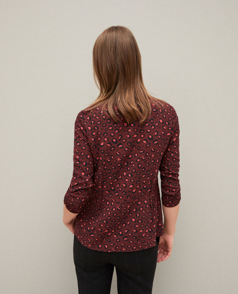 Frilly blouse Leopard decadente chocolate 9banthere