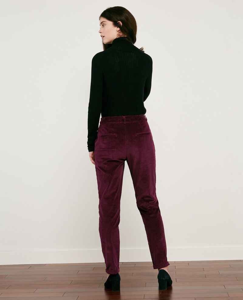 Corduroy trousers Burgundy Delours