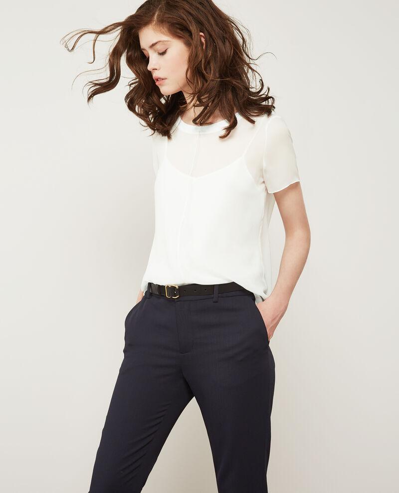 Long-sleeved silk t-shirt Off white Dartiste