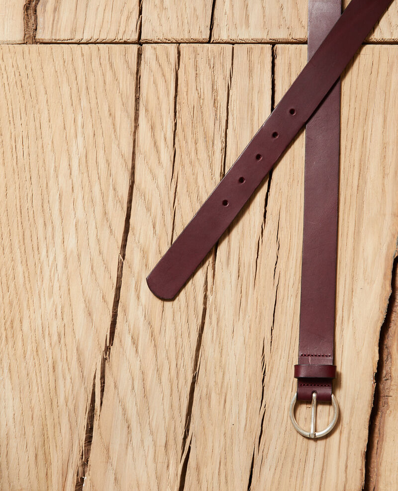 Smooth leather belt, medium model Decadente chocolate Girouette