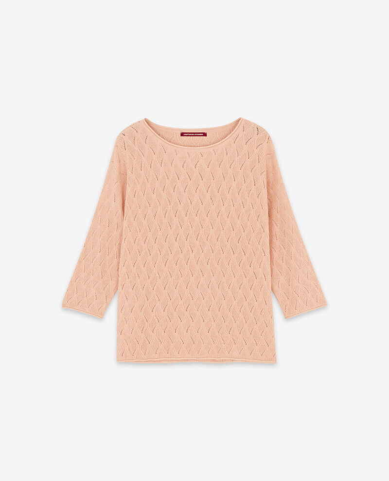 Jumper with 3/4 cropped sleeves Marshmallow Dream