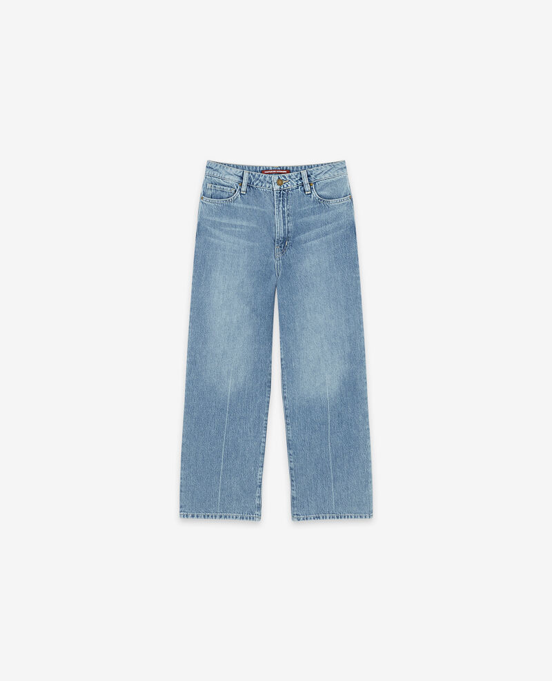 Wide cropped jeans Vintage wash Delente