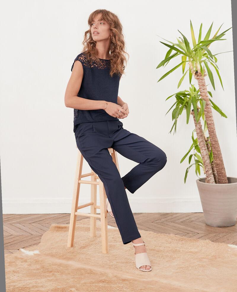 Crepe trousers Marine Focarina