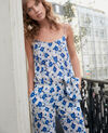 Silk jumpsuit Summer bloom ultra marine Frac