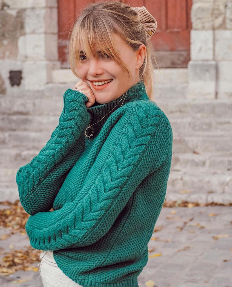 Wool jumper with braid detail Evergreen Garouk