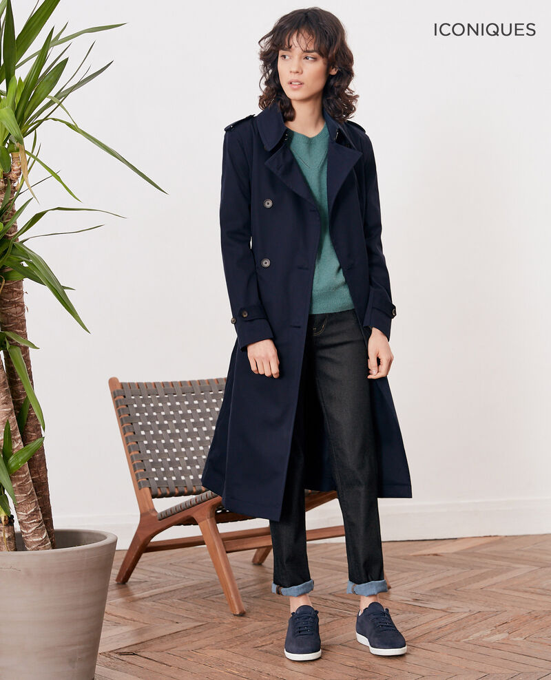 Iconic fit Trench coat NAVY