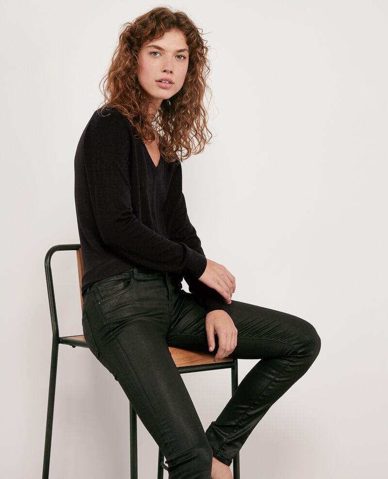 Skinny coated jeans Noir Didi