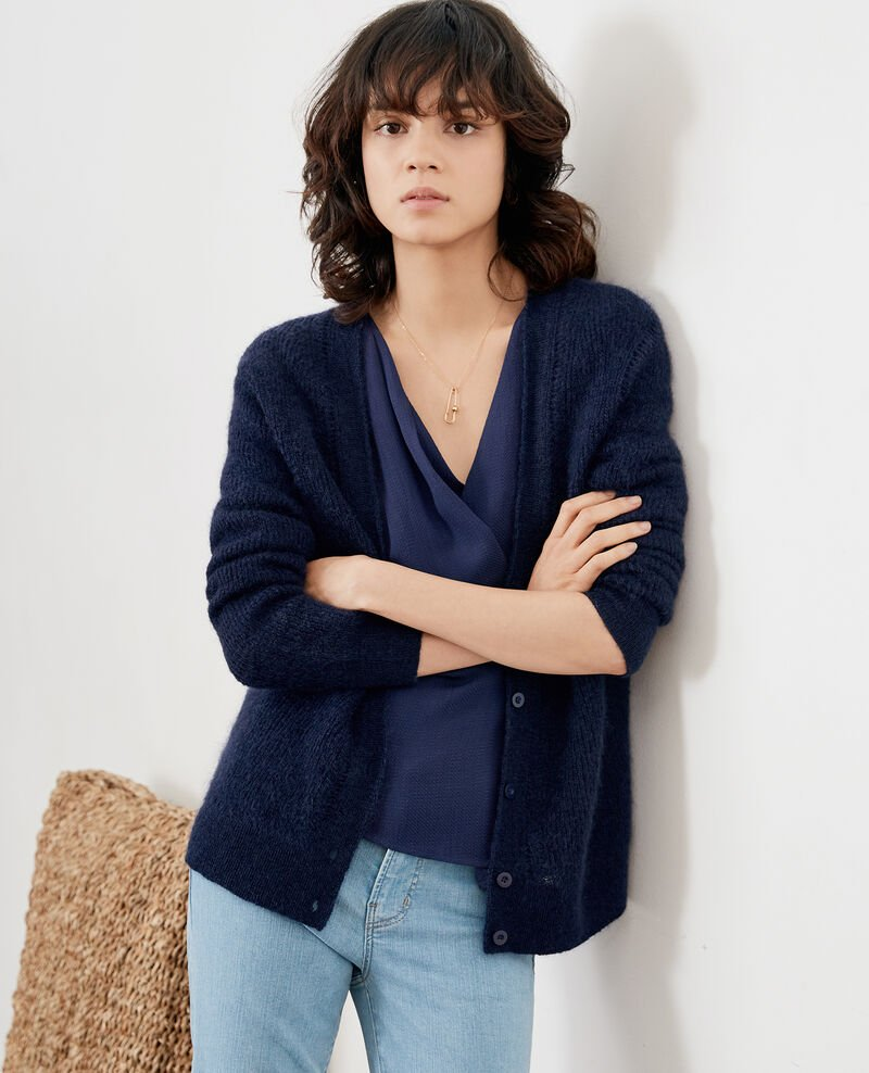 Cardigan with mohair Marine Frisquette