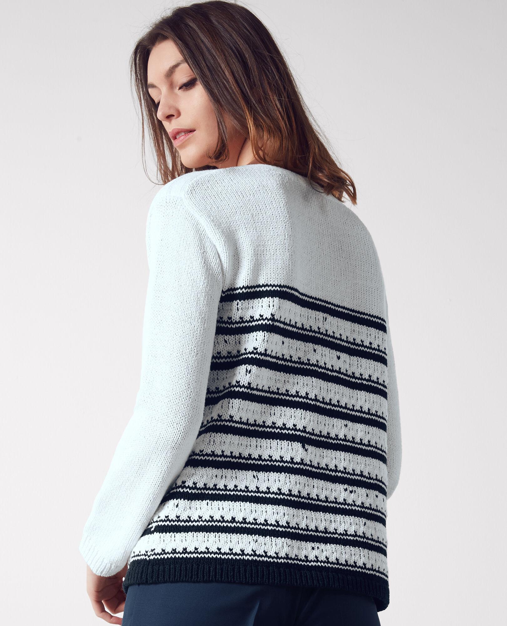 Breton-style striped jumper White/dark navy Cosette