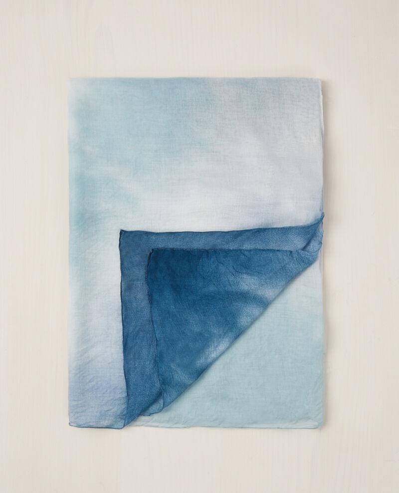 Square tie-dye scarf Bondi blue Cye