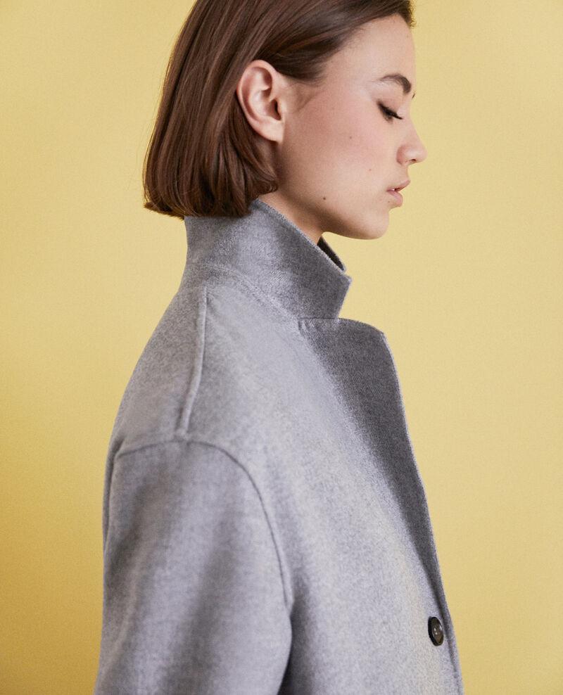 Double-sided coat Light grey Irelie