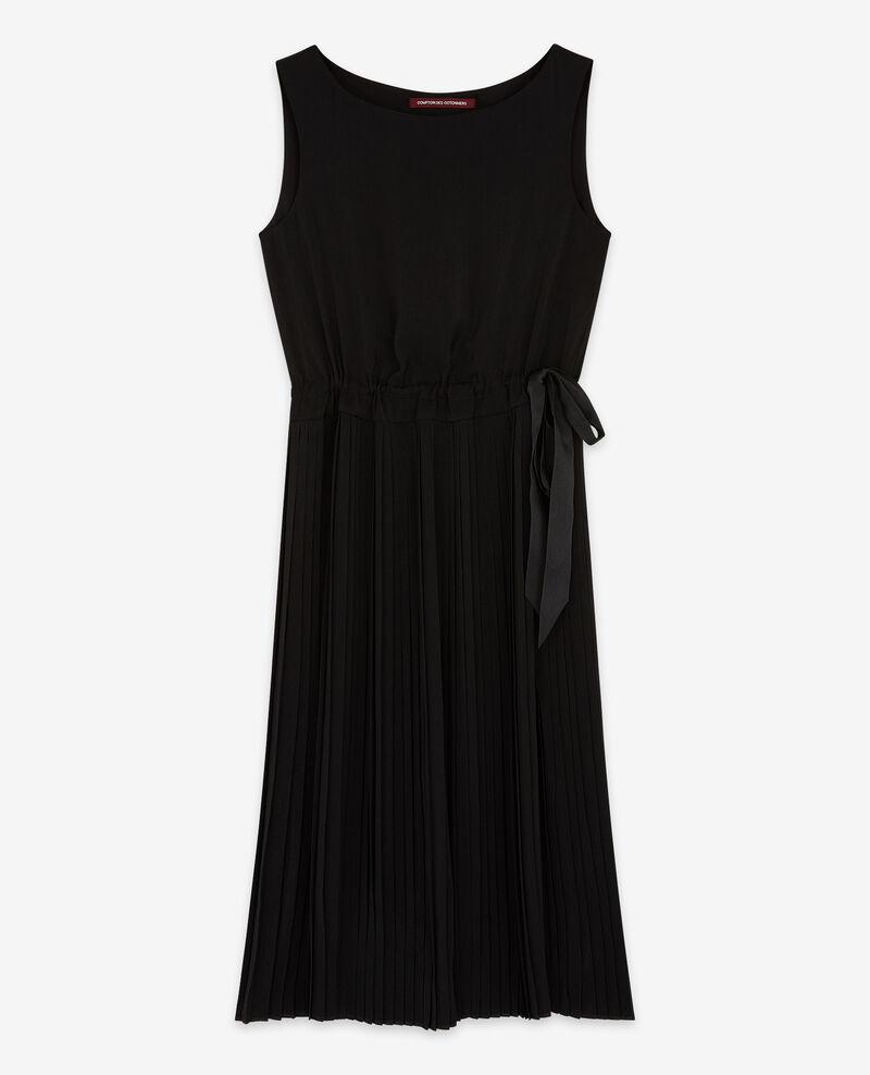 Dress with pleated skirt Noir Dosoleil