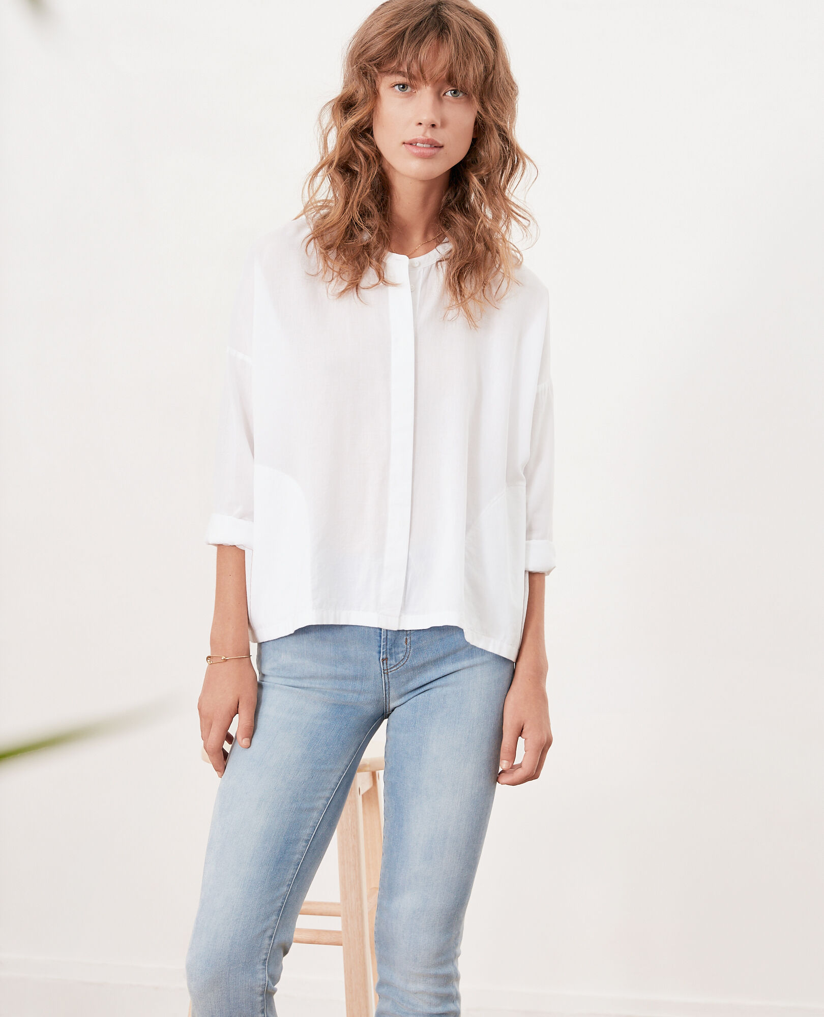 Loose fit blouse BLANC