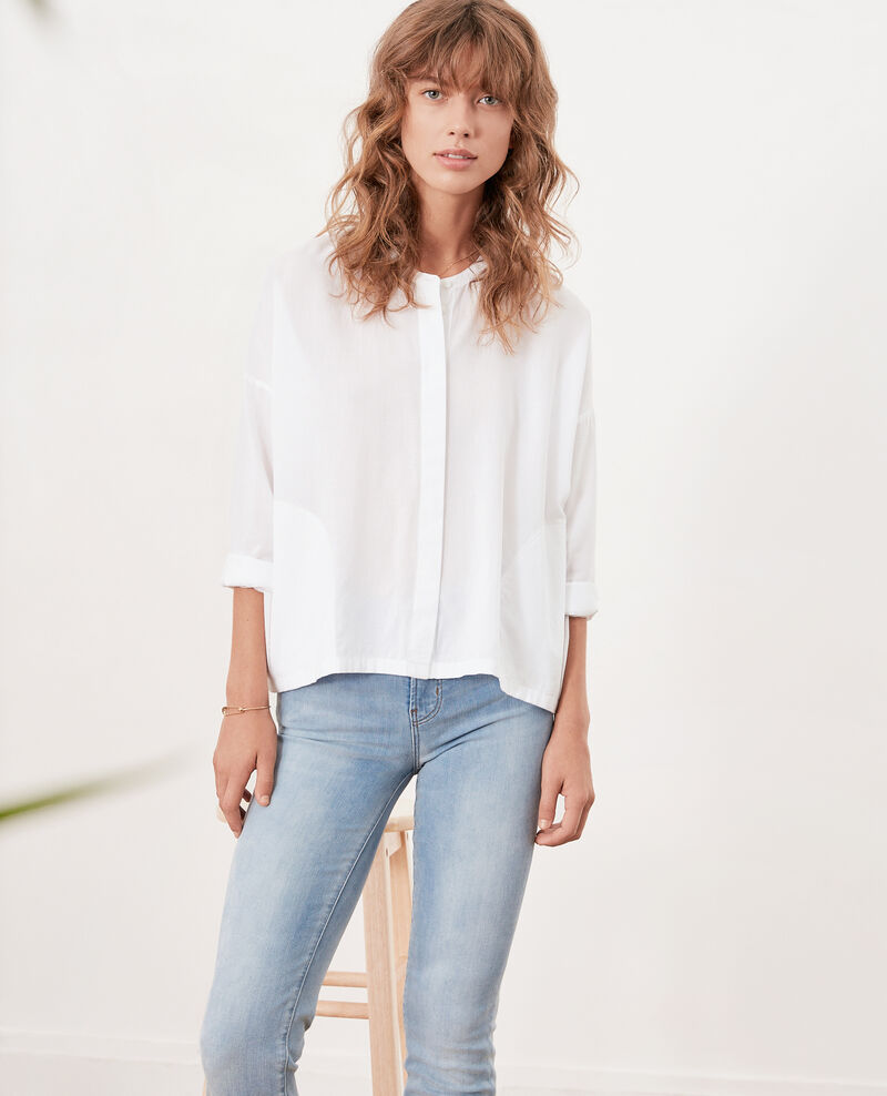 Loose fit blouse BLANC
