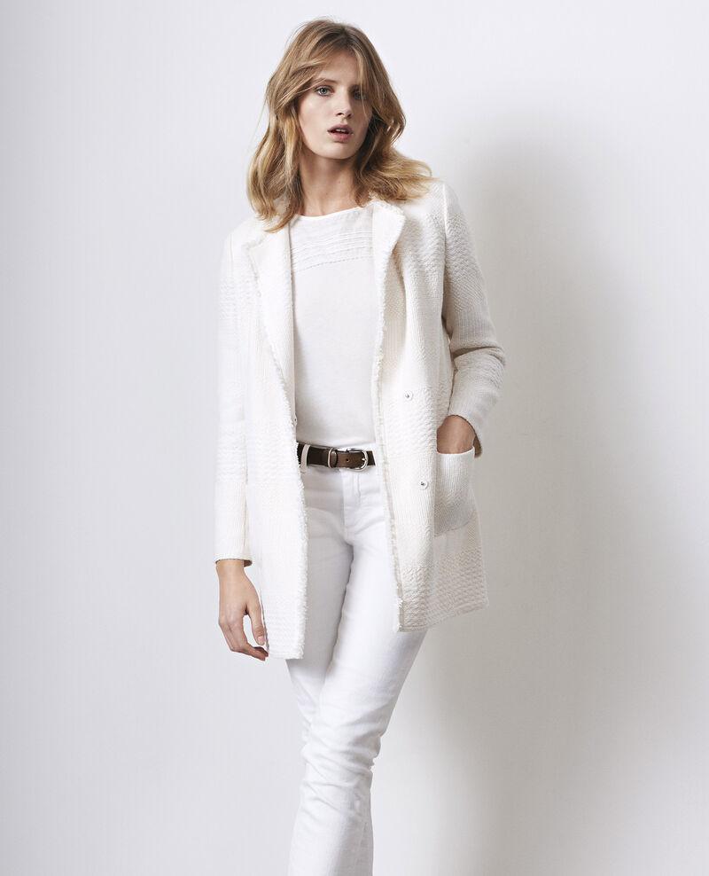 Half-length tweed coat Off white Cabine