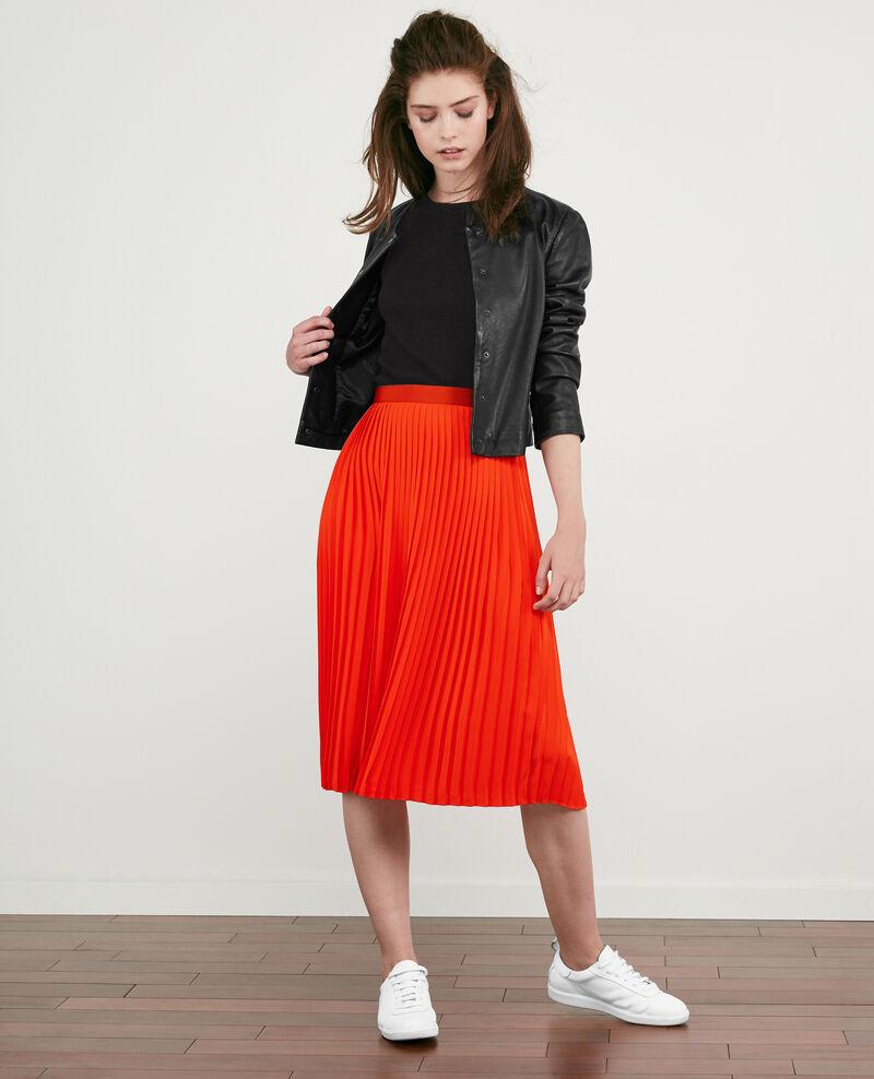 Seamless knitted short sleeve jumper Noir Dalande