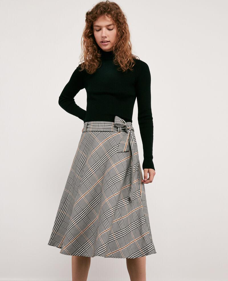Skirt with herringbone print KENSINGTON BLACK