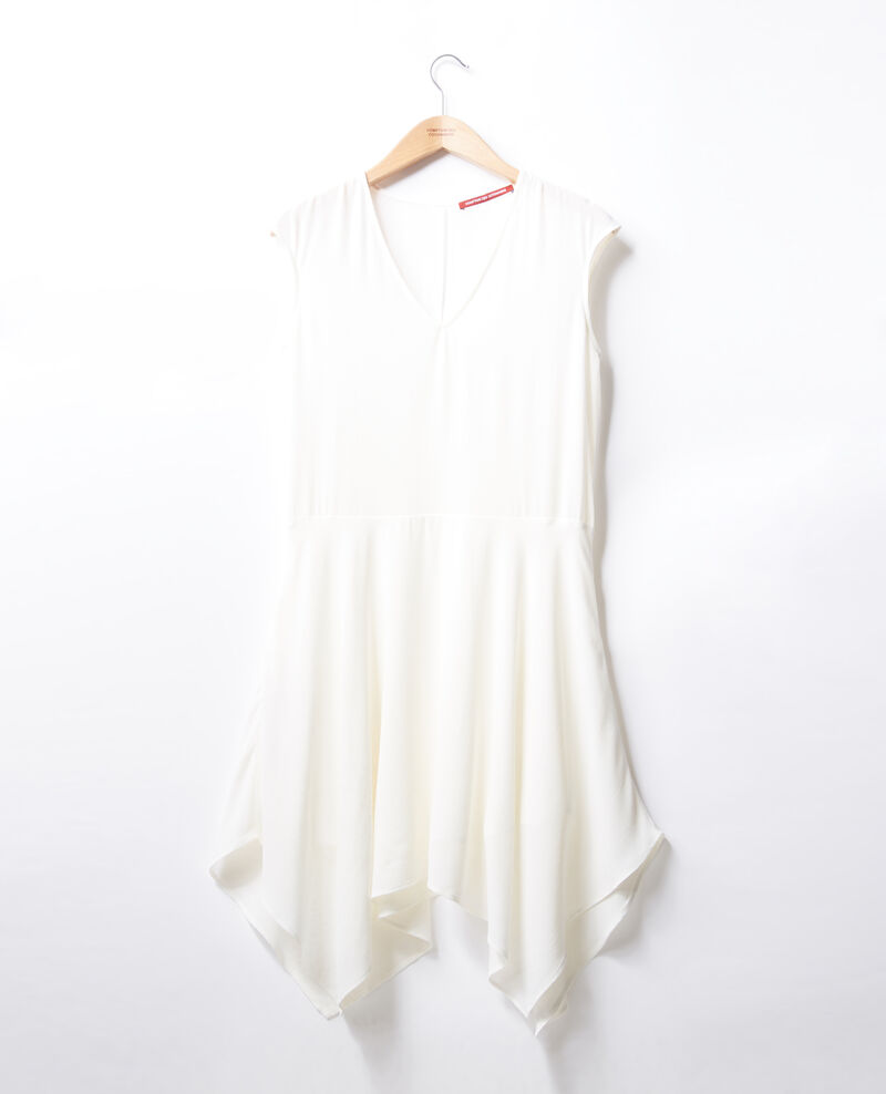 V-neck dress Off white Fondant