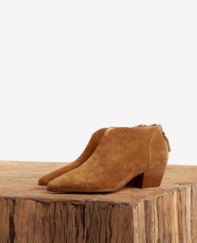 Suede ankle boots COGNAC