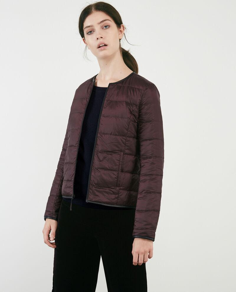 Classic Mademoiselle Plume down jacket Noir/maroon Bidown