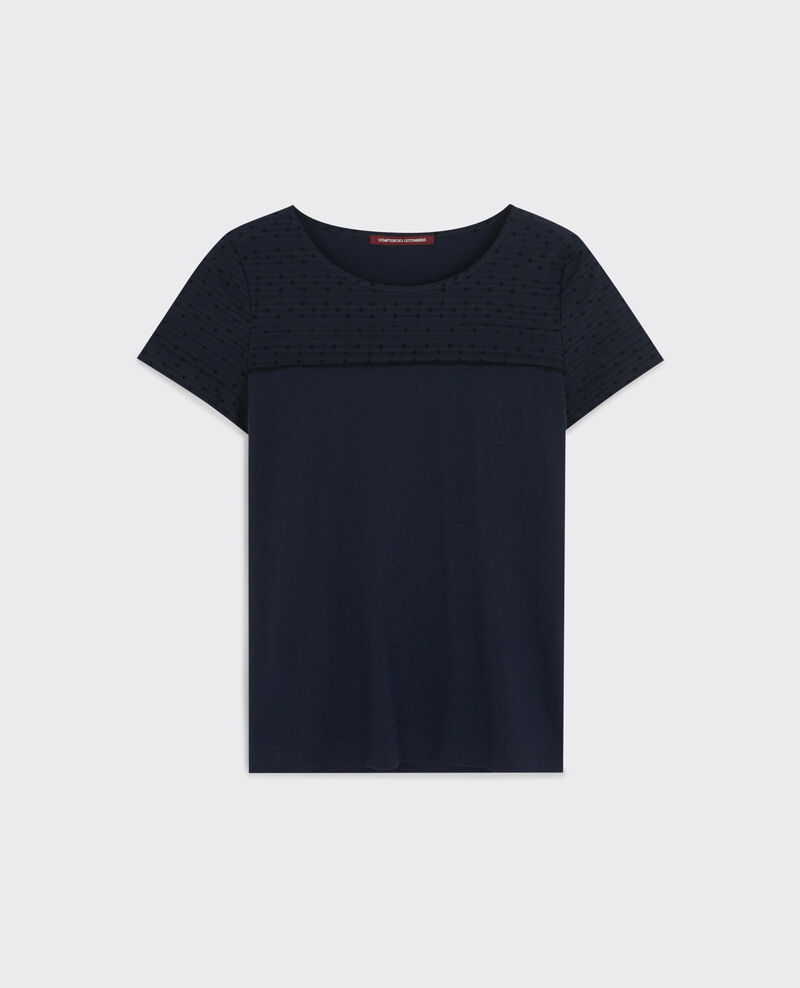 T-shirt with stitching detail at the top Midnight Caviar