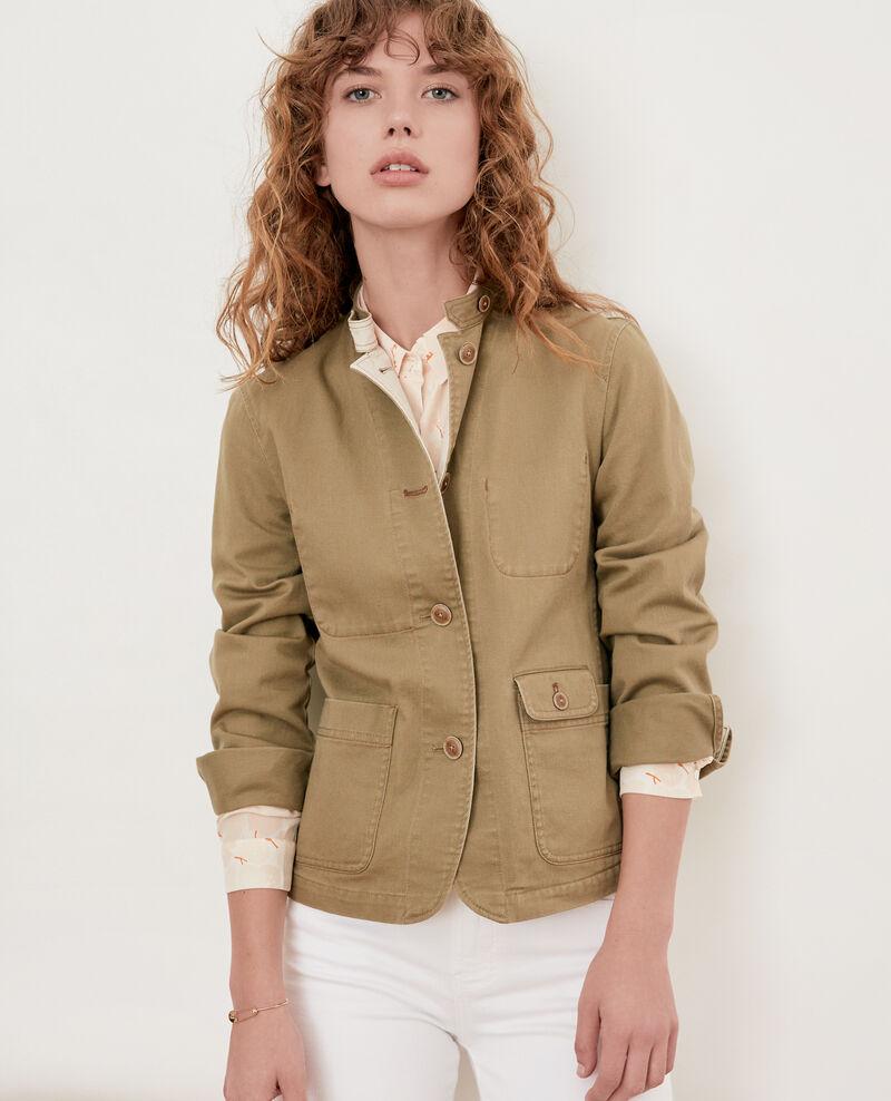 Mandarin collar jacket Mastic Felotte