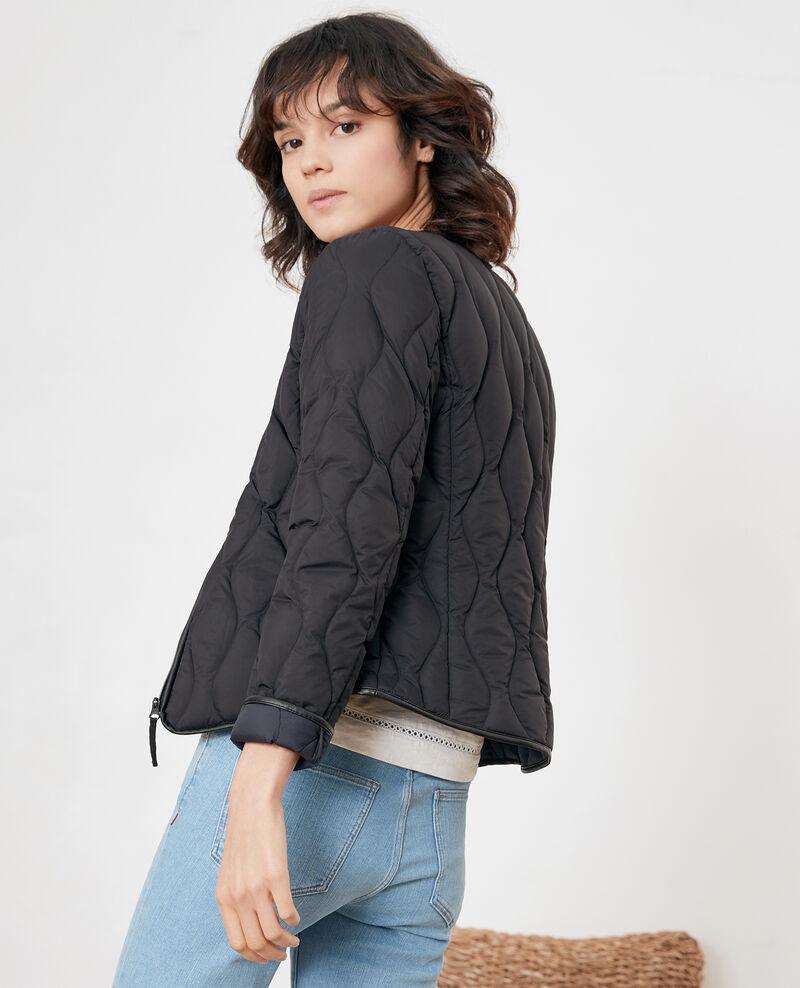 Pocketable puffa jacket Black/navy Folin