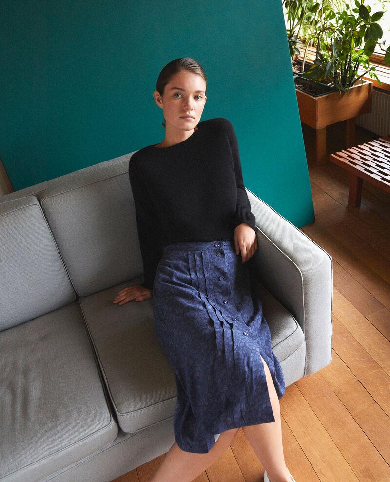 Printed skirt Ld majolica blue Gidre