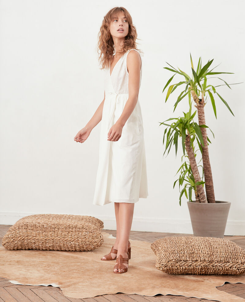 Wrap dress Blanc Filo