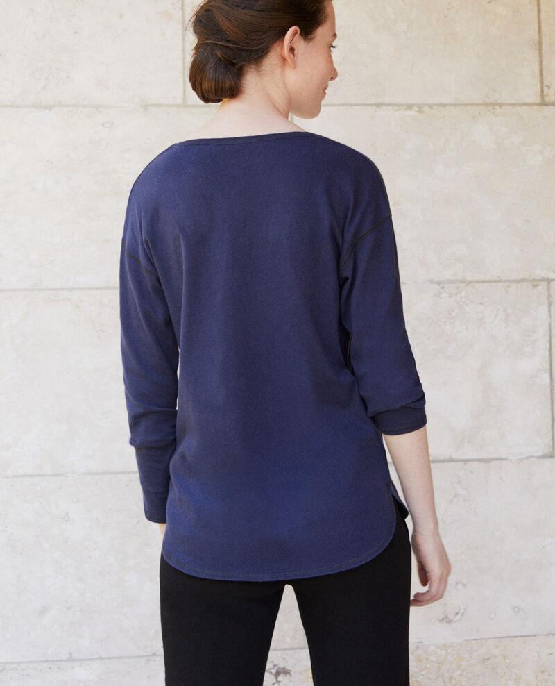 Cotton T-shirt Peacoat Gonia