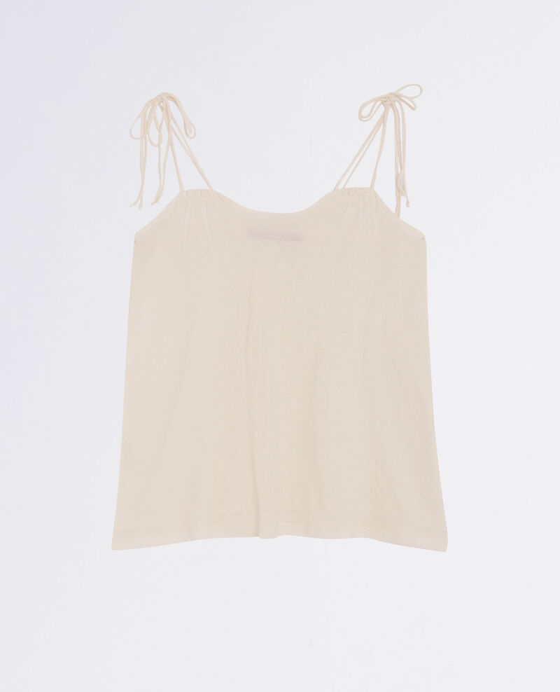 Top with tie straps Off white Cubalibre