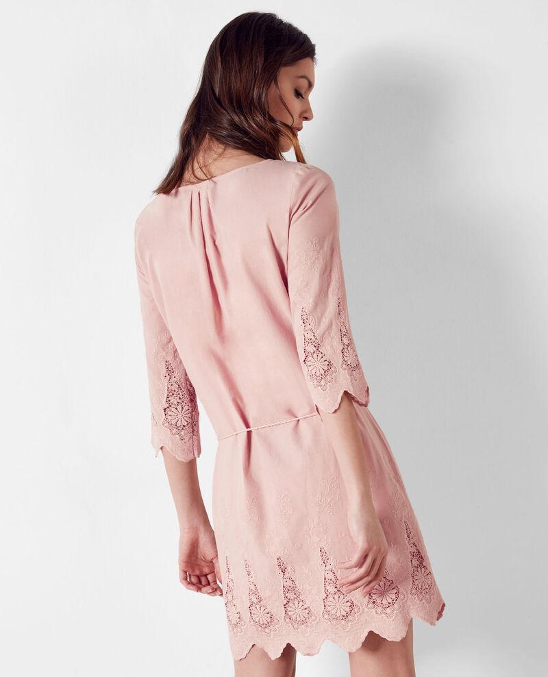 Embroidered dress Peach Cimone