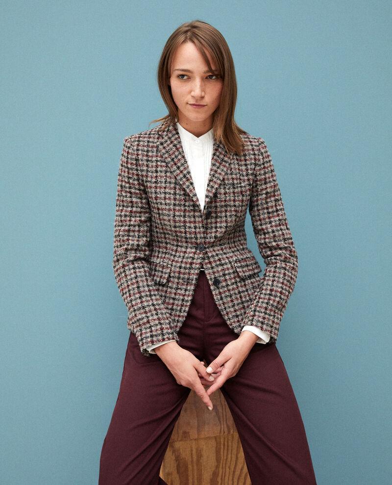 Wool blend blazer COWHIDE