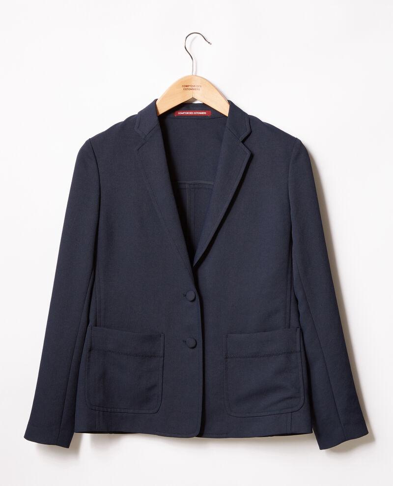 Crepe jacket Marine Fociba