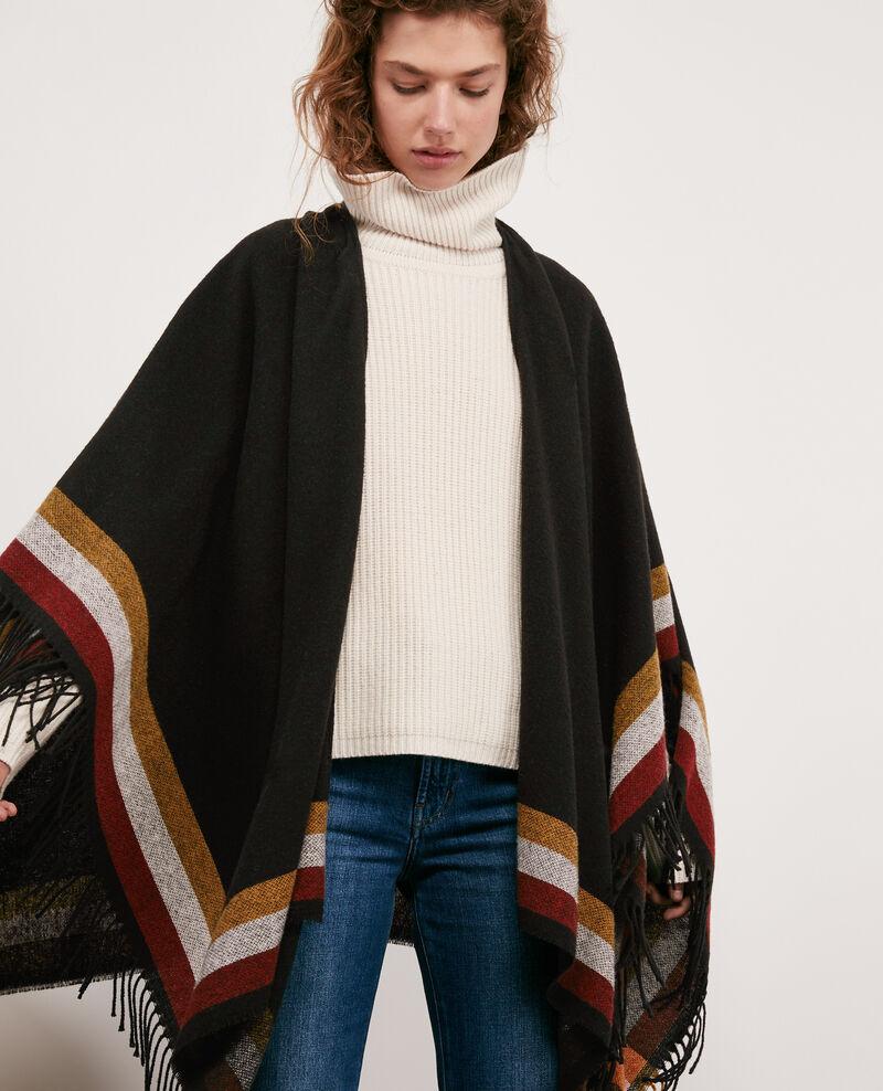 Wool poncho Noir Docape
