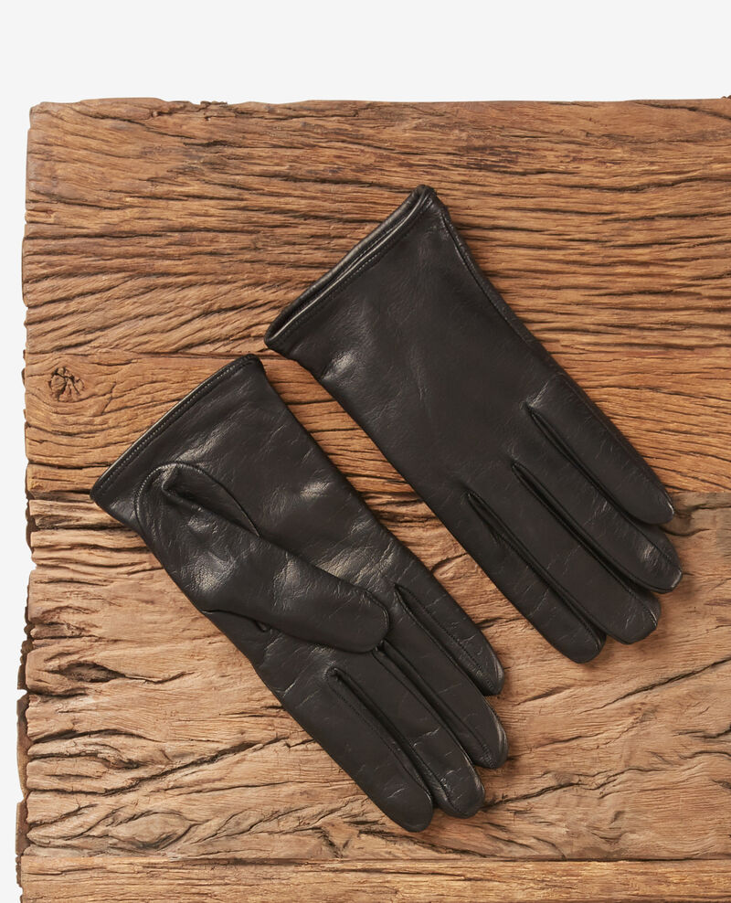 Leather gloves Noir Dogant