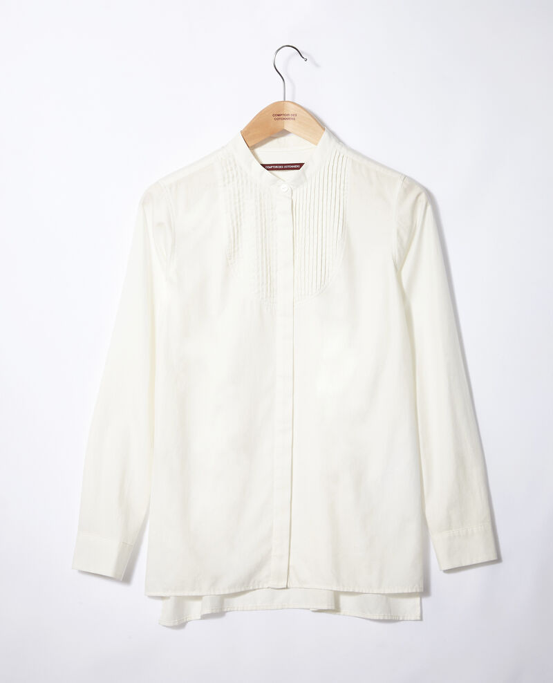 Mandarin collar shirt Off white Ganane