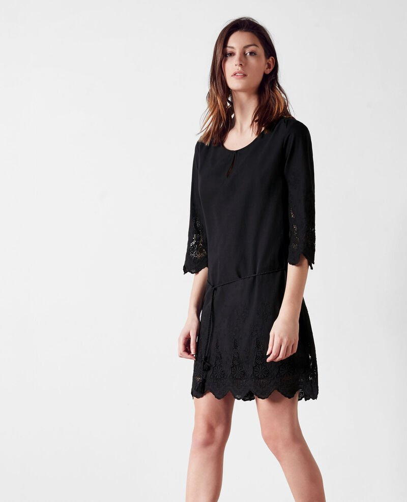 Embroidered dress Noir Cimone