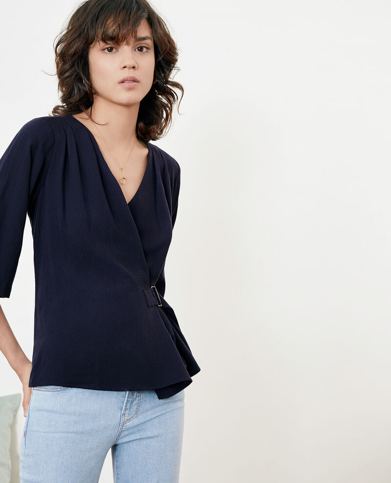 Blouse with buckle MARINE