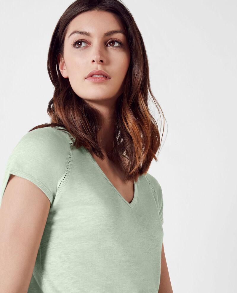 Linen t-shirt Opaline Caramel