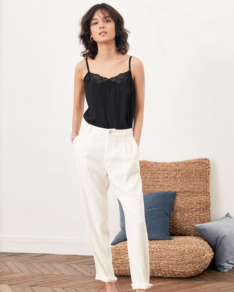 Linen blend trousers KAOLIN