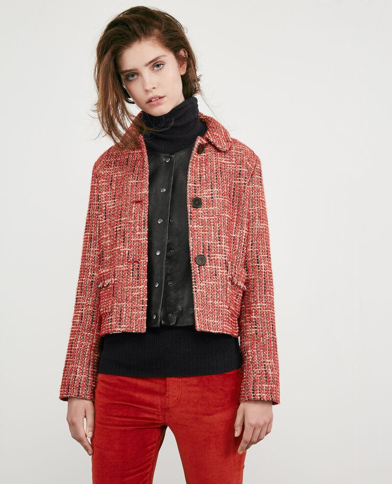 Tweed jacket Orange red Djimmy