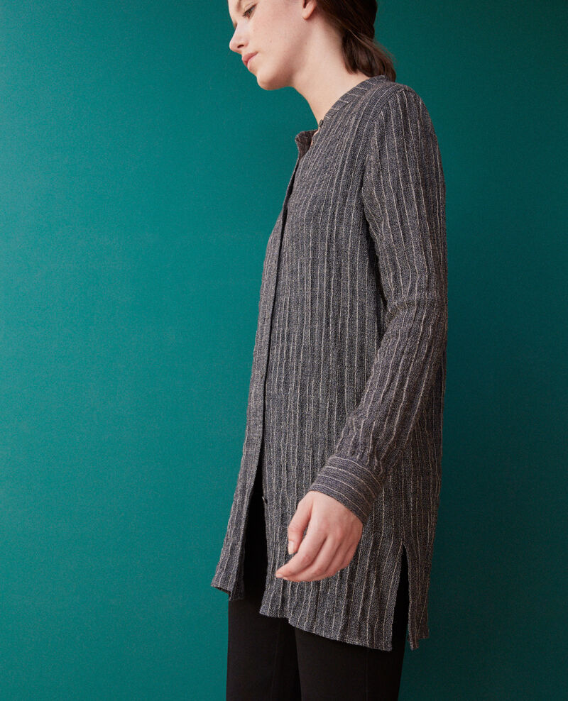 Crinkled soft shirt Peacoat/cloud dancer Gasie