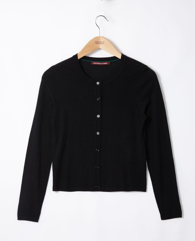 Merino wool cardigan Noir Godard