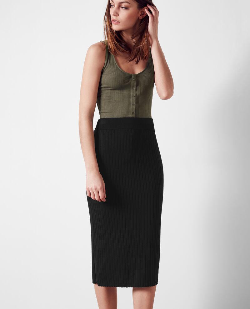 Woollen skirt Noir Chamo